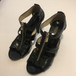 Michael Kors Berkeley T-Strap Leather Heels